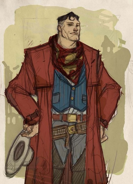 Justice League Western Re-design - Superman